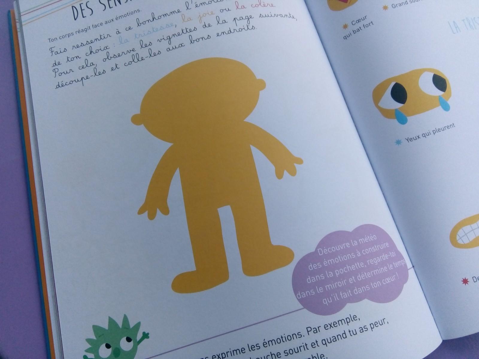 cahier découvrir émotions enfants
