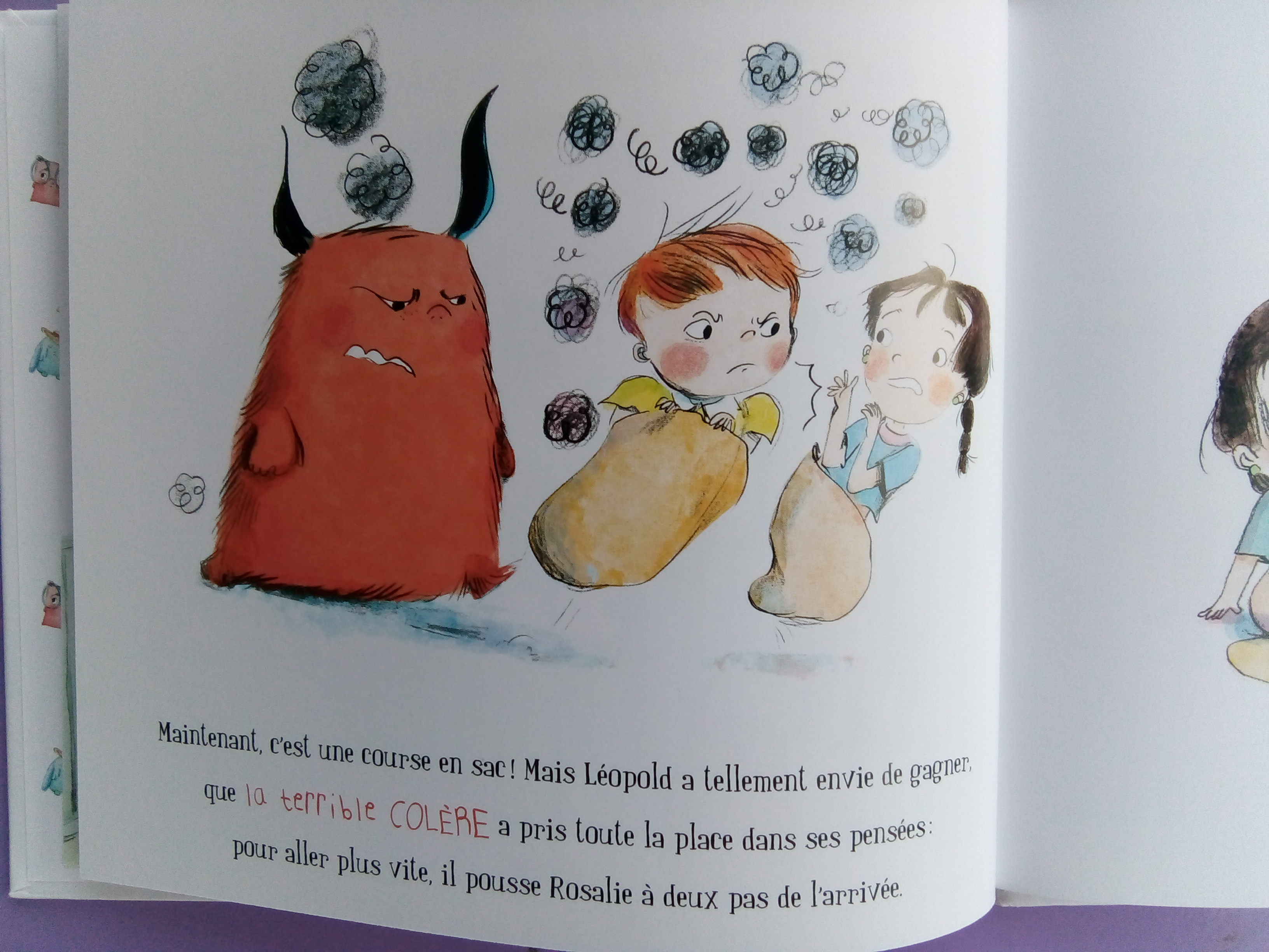 livre émotions colère enfants