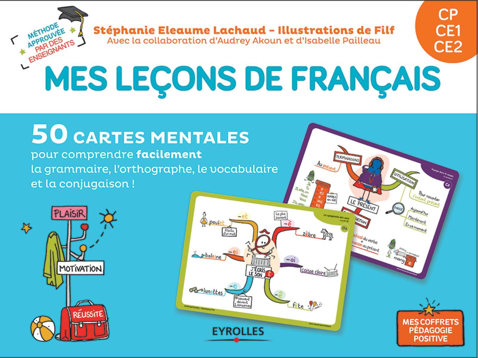 Carte Mentale Accord Adjectif De Couleur.Mes Lecons De Francais Cp Ce1 Ce2 50 Cartes Mentales Pour
