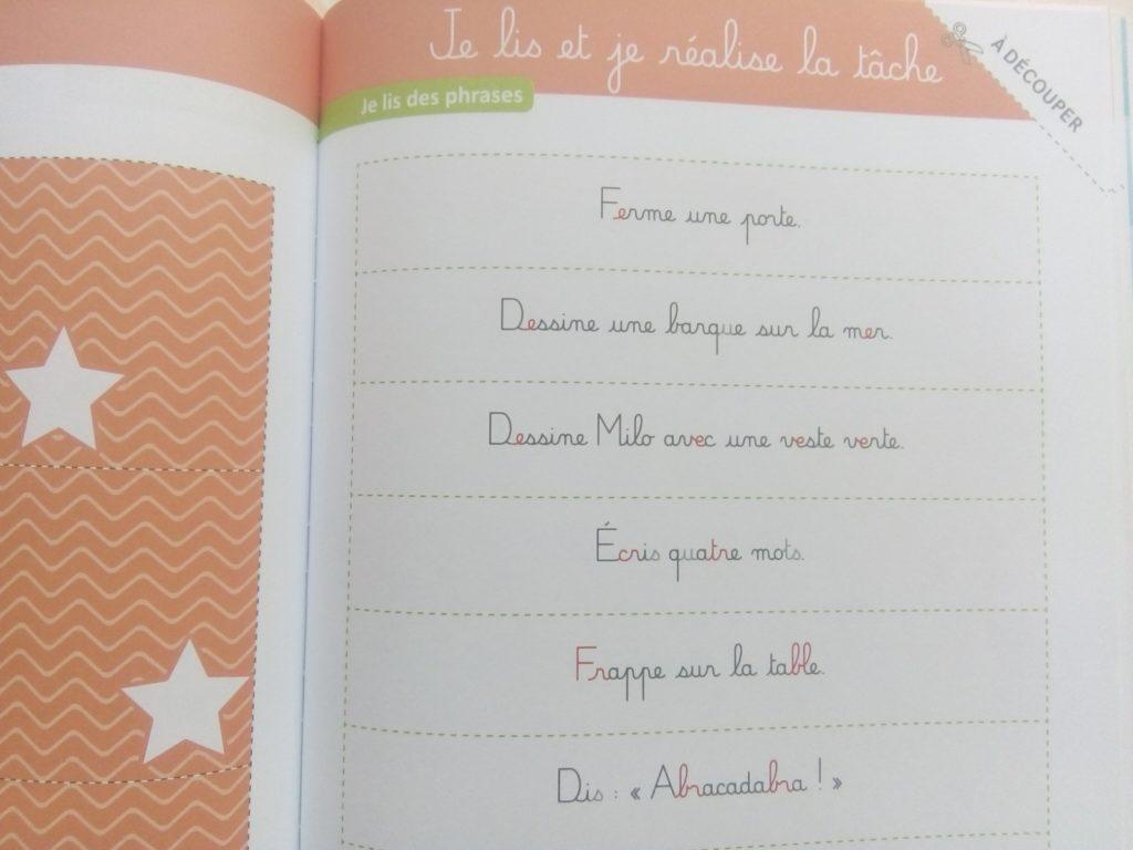 cahier compréhension lecture montessori