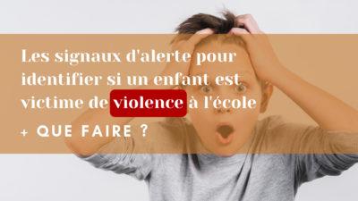 enfant est victime de violence à l'école