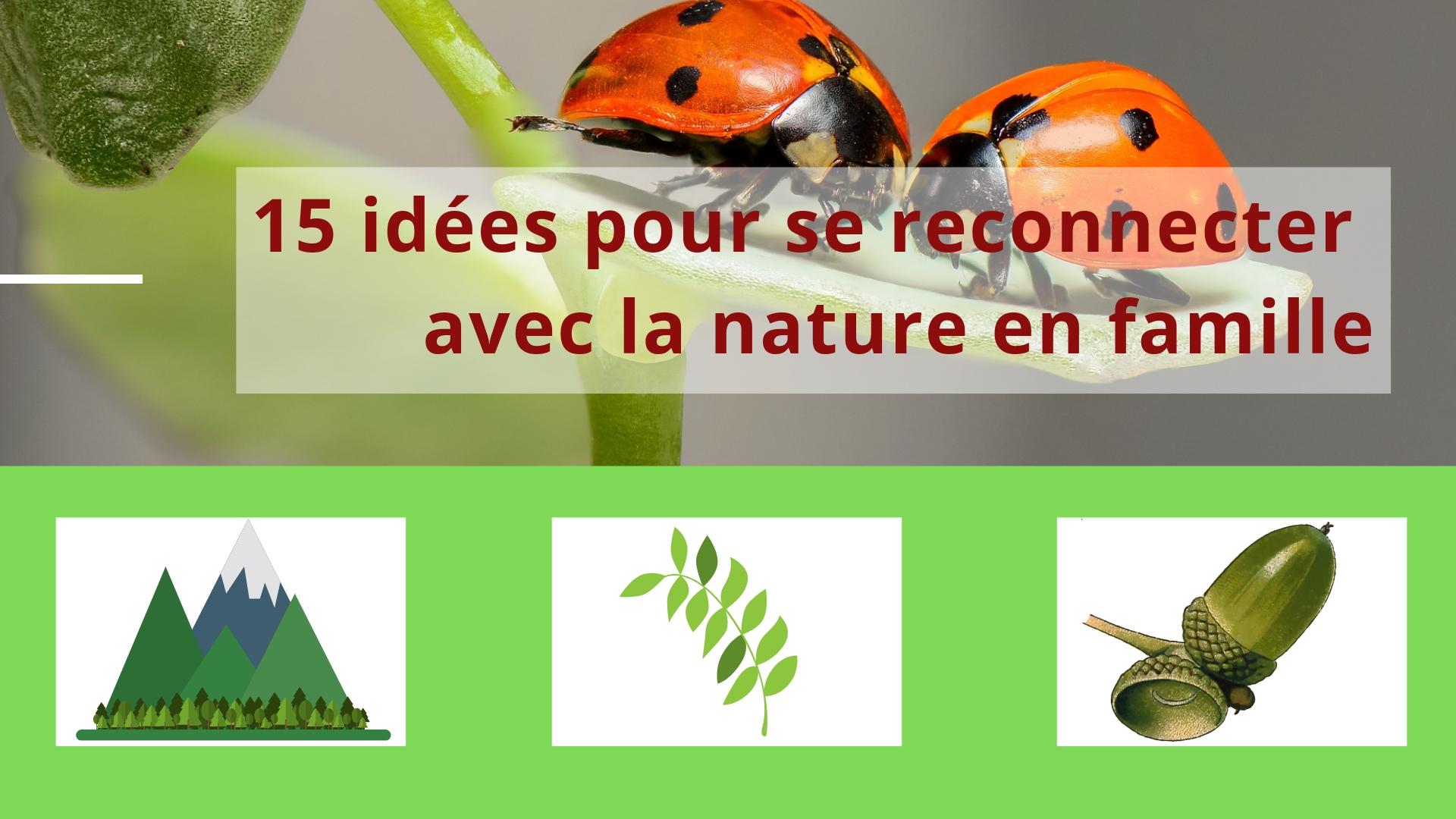 idées pour se reconnecter avec la nature en famille