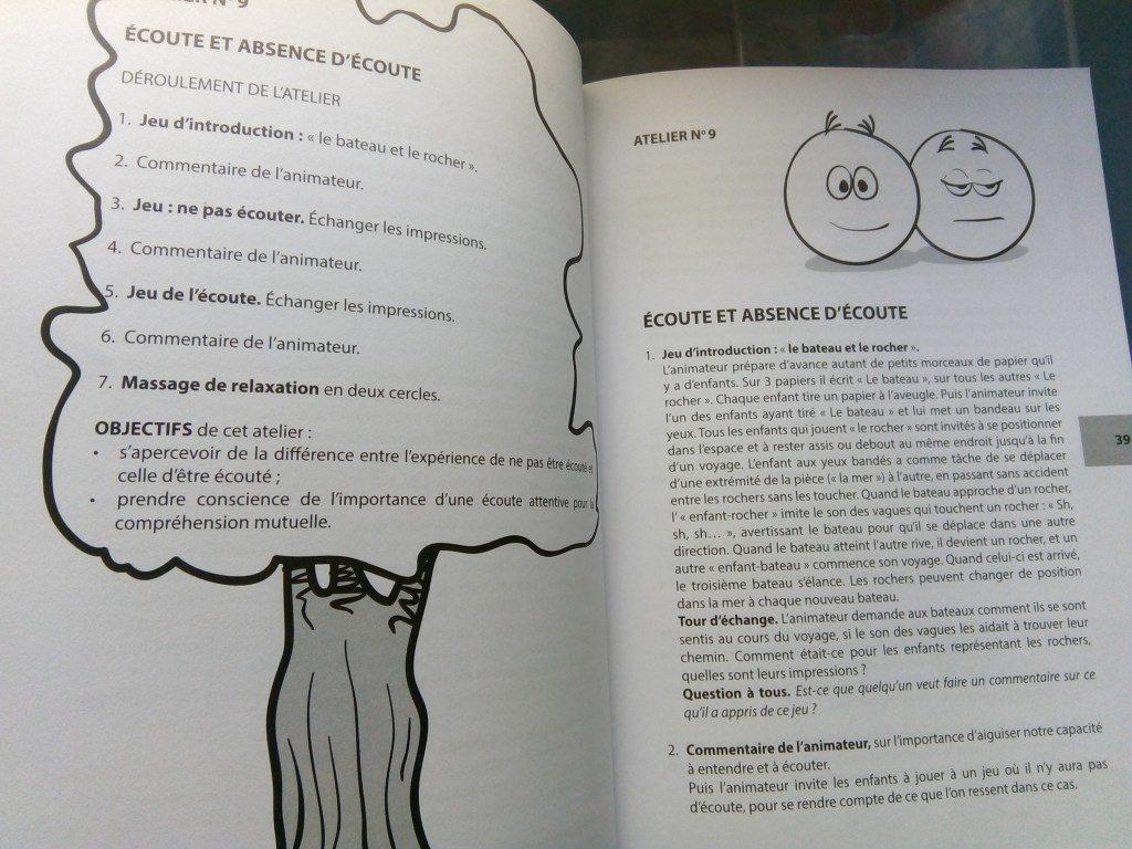 livre activités développement émotionnel et relationnel pour les enfants