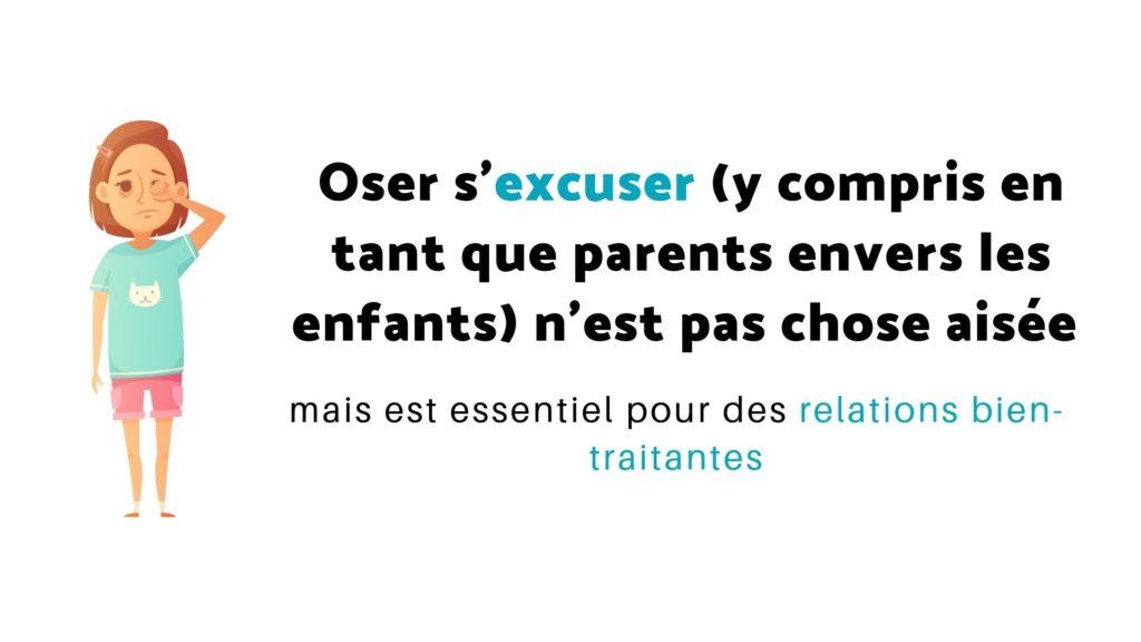 parents s'excuser enfants