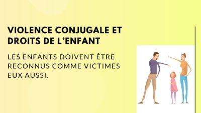 Violence conjugale enfants sont aussi victimes