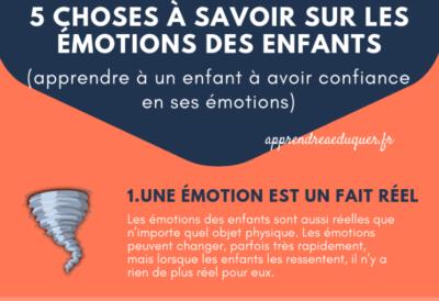 choses à savoir sur les émotions des enfants