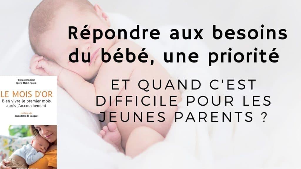 répondre aux besoins du bébé difficile jeunes parents