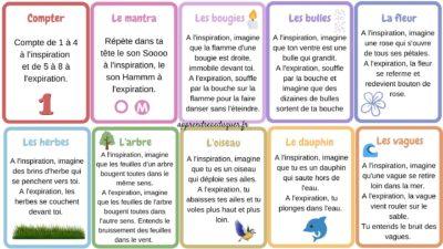 cartes respiration dormir enfants
