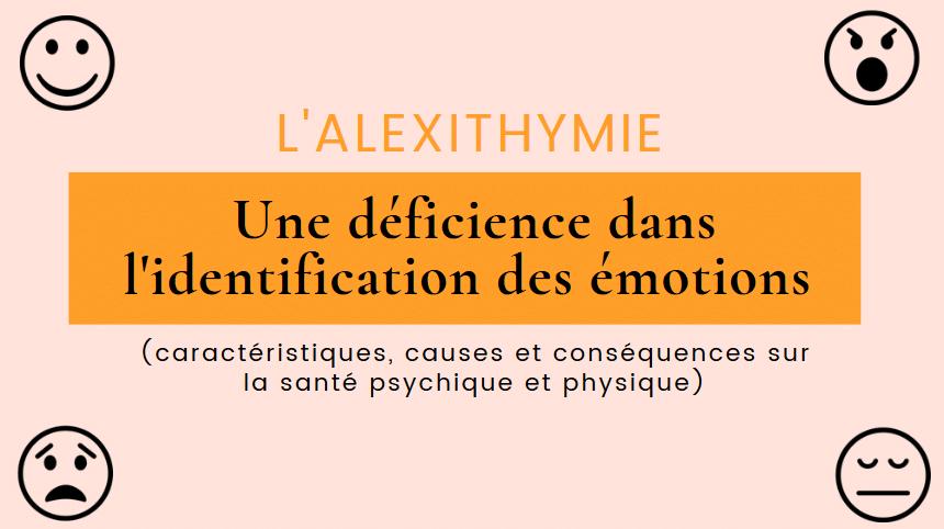 alexithymie déficience reconnaissance des émotions