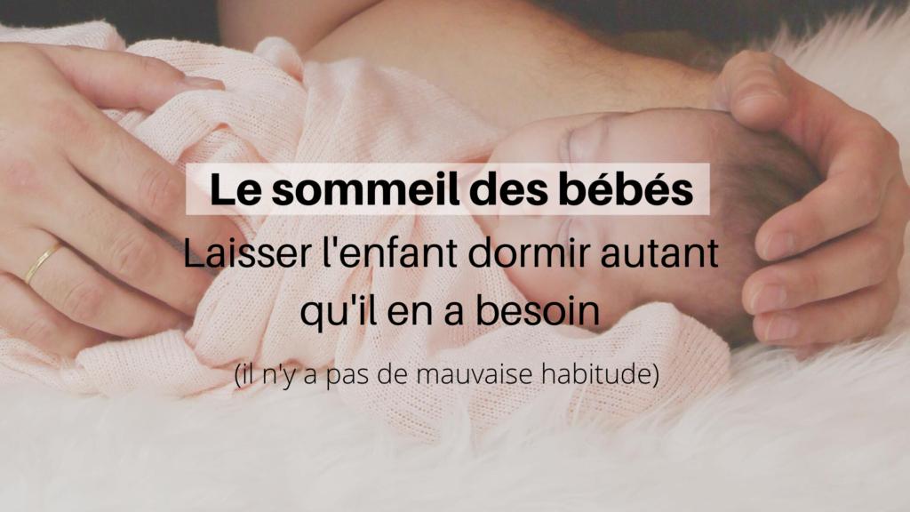 sommeil bébé mauvaise habitude