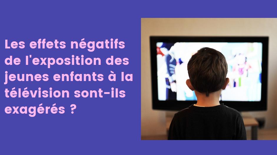 effets négatifs télé enfants