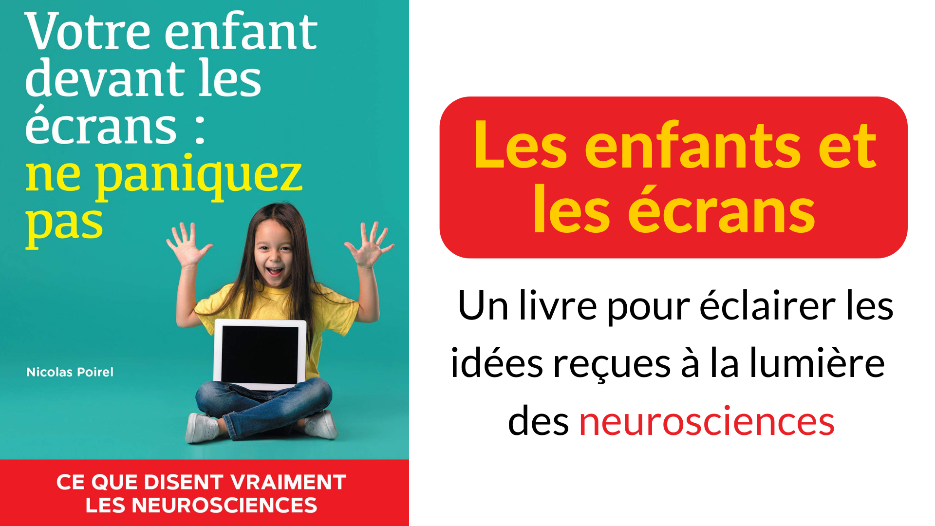 enfants écrans livre idées reçues neurosciences