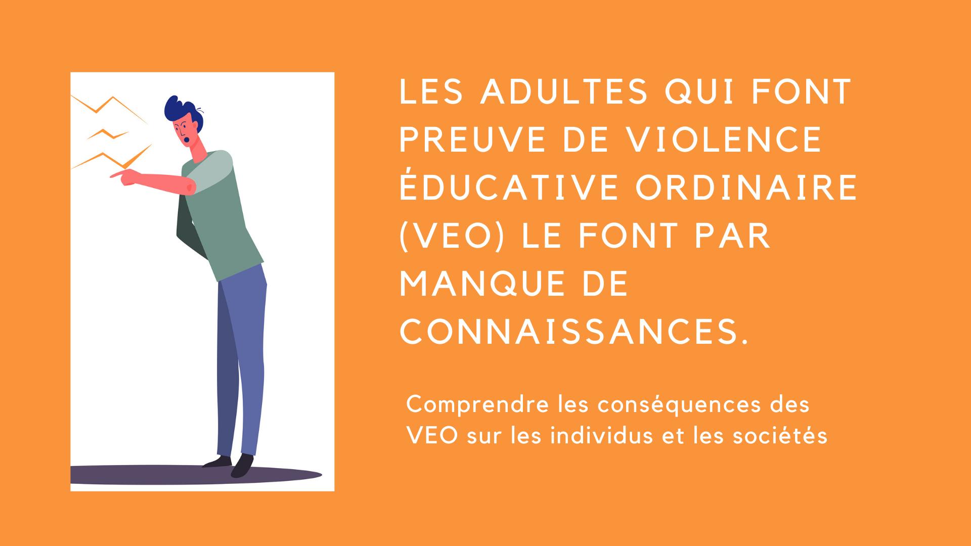 manque connaissances violence éducative ordinaire