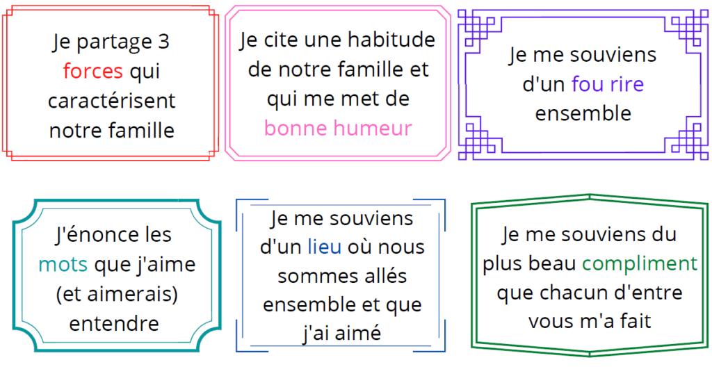 cartes créer lien positif en famille
