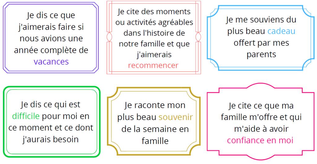 cartes psychologie positive famille