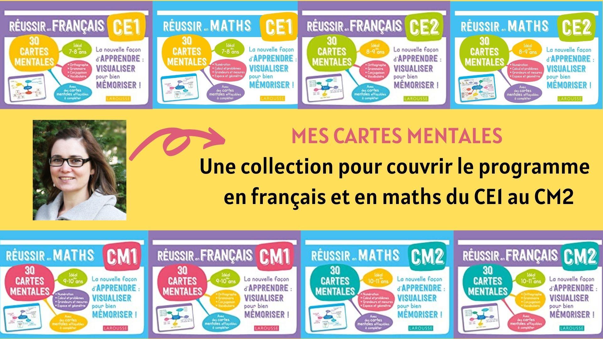 collection cartes mentales français maths du CE1 au CM2