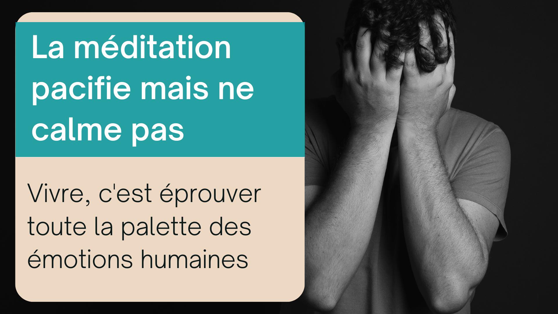 méditation calme émotions