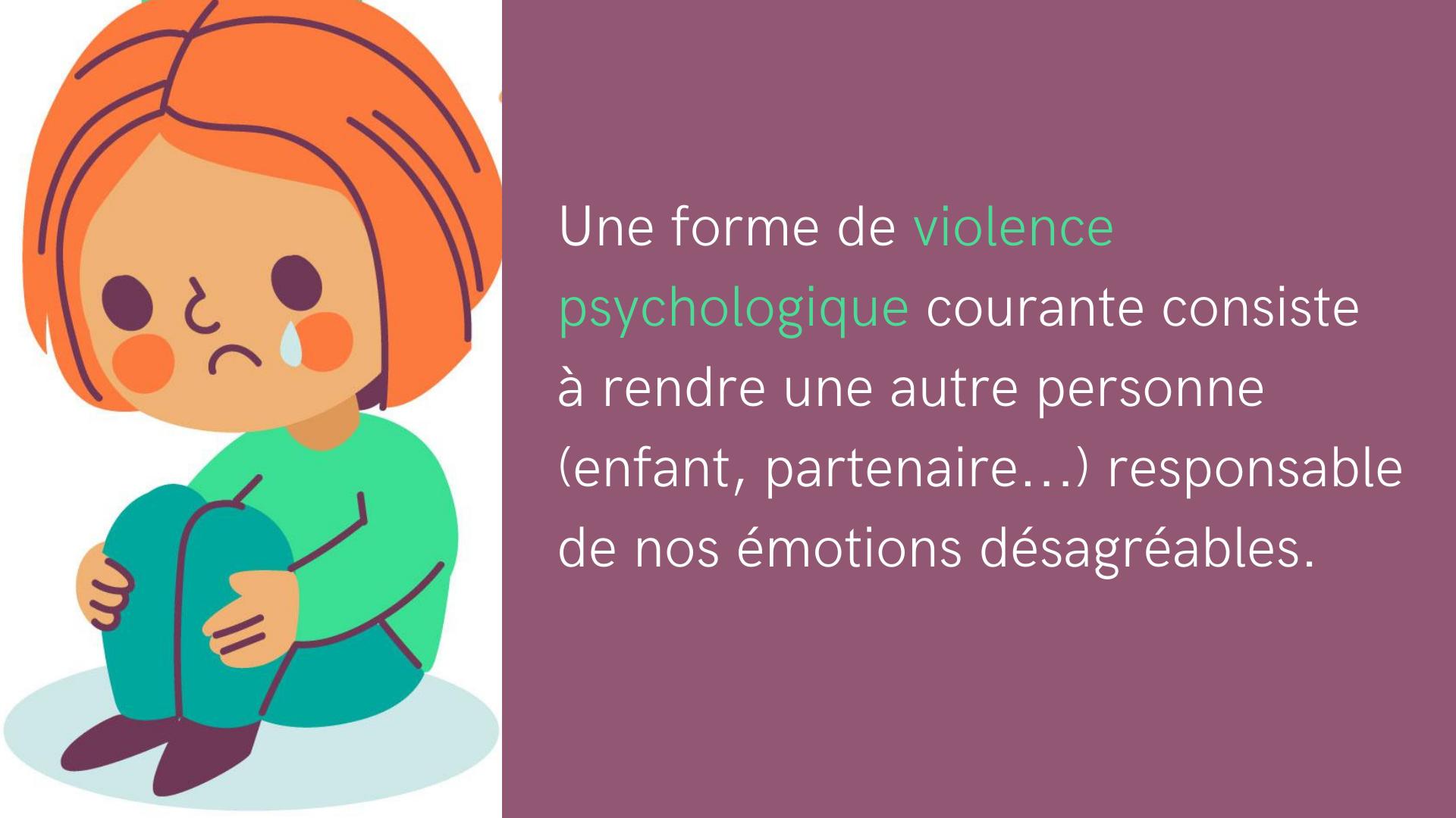 violence psychologique autre responsable émotions désagréables