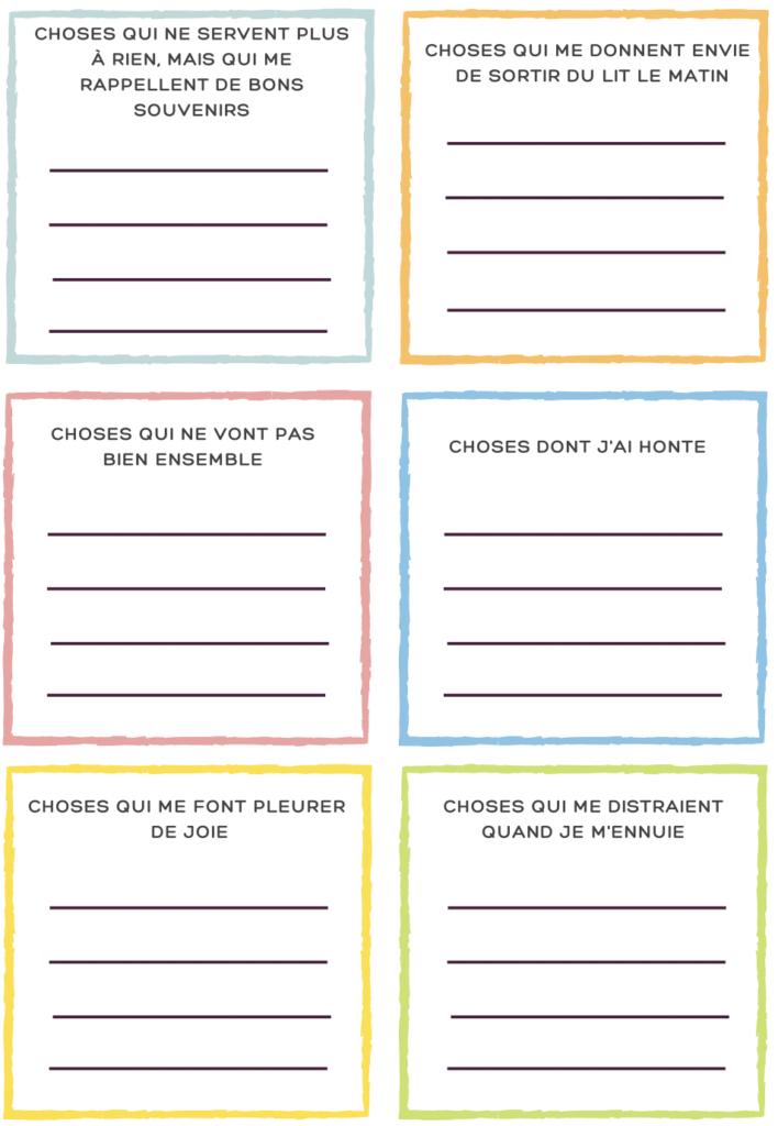 jeu écriture émotionnelle liste enfants