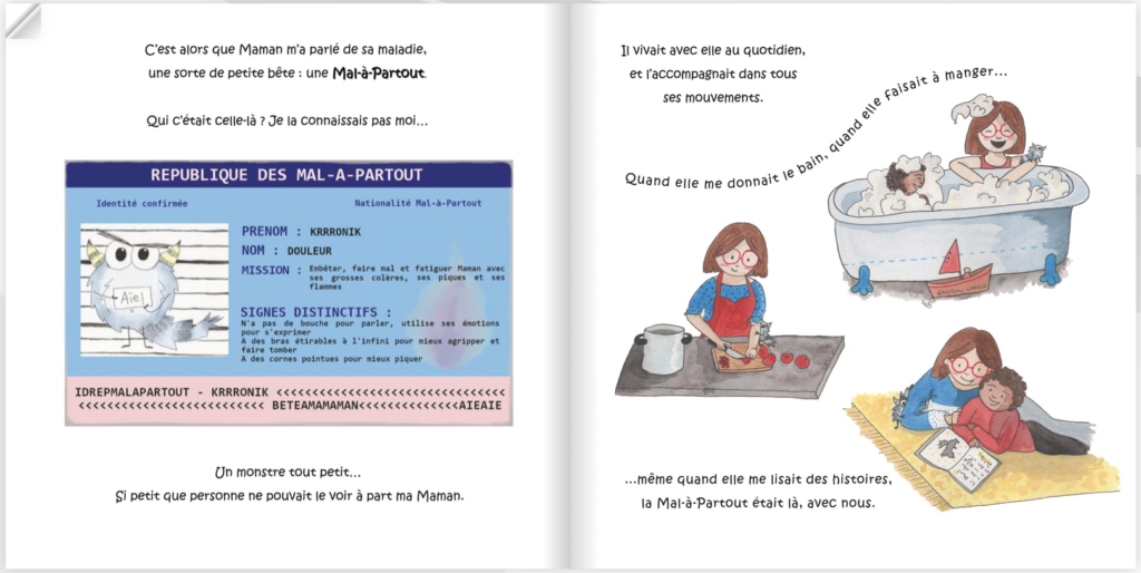 livre enfant sur maladie chronique parents