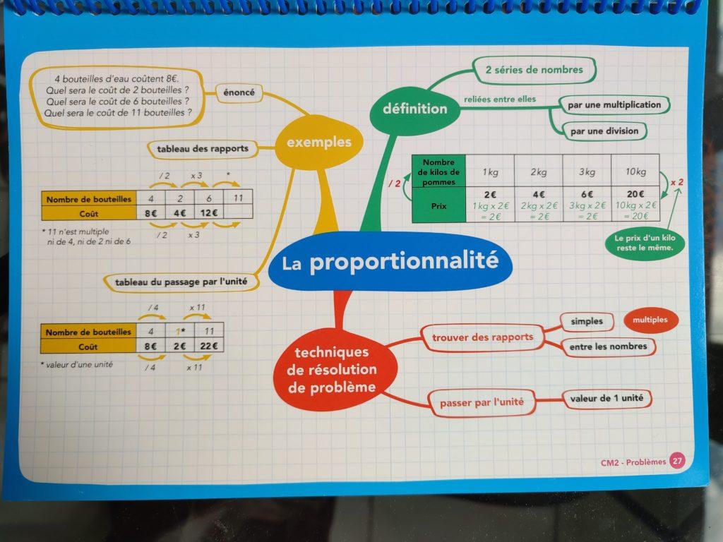 cahier cartes mentales programme cm2