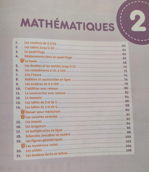 cahier révisions maths français CE2