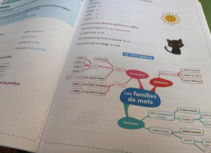 livret réviser maths français carte mentale